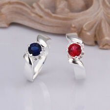 Hot Fashion 925 sterling silver Swarovski Crystal silver Ring US size 8