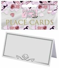 WEDDING TABLE PLACE NAME CARDS NUMBERS FAVOURS WHITE IVORY CHEAP NEW X511-02/69