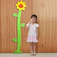 Floral Kids Child Baby Growth Height Chart Measure Playroom Wall Decor Sticker