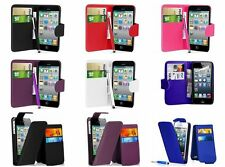Flip Wallet Leather Case Cover Pouch Fits Apple iPhone 4S Free Screen Protector