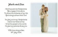 A6 - Personalised Christening Poem gift Godchild to Godfather/mother/Godparent