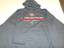 SAN FRANCISCO 49ERS HOODED HOODIE SWEAT SHIRT ALL DIFFERENT SIZES BAD PRINT GREY