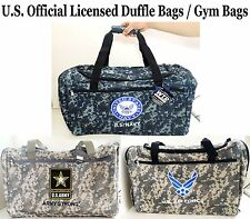 1 PC Army Duffle Bags/ Gym Bags - Official Licensed Bags- Army, Navy, Air Force