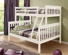 TWIN OVER FULL MISSION BUNK BED - WHITE - BUNK BEDS