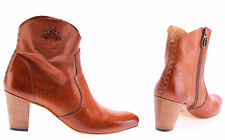 Women's Shoes Ankle Boots LA MARTINA L4160100 Cuero Amber Heels Made Italy New