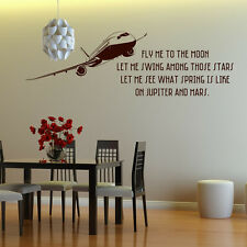 Frank Sinatra Wall Sticker Fly Me To The Moon Wall Decal Art