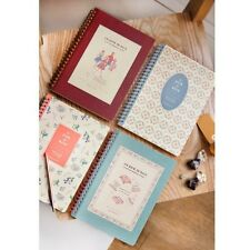 ICONIC Vintage Retro Blank Line Wire Bound Notebook Paper Memo Note Pad Journal