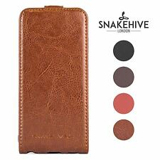 Snakehive ® genuine REAL LEATHER FLIP CASE COVER PER SAMSUNG GALAXY S5