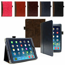 SMART LEATHER CASE COVER WALLET WITH STAND FOR APPLE IPAD AIR
