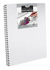 CANVAS COVER SPIRAL BOUND HARDBACK SKETCH BOOKS PAD PERSONALISE ROYAL LANGNICKEL