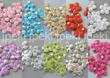 50 Padded Sequin Flower Appliques Sewing Craft 10 Colors U Pick A265