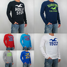 New  2014 HOLLISTER By Abercrombie Men Muscle Fit Little Dume Long Sleeve Shirt