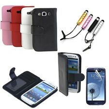 Accessory Wallet Card Holder Leather Case Cover fr Samsung Galaxy S III S3 I9300