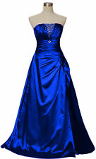 ★Royal Blue Woman's FormaL Prom Evening Dress Gown Ball Robe Bridemaids sizE8-16