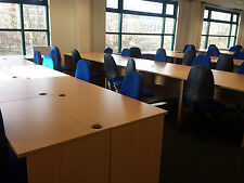 Small Call centre Panel Ended desks, Beech of Maple, Ideal of call centre office