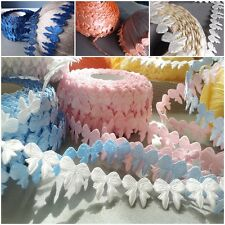 VINTAGE satin Bows lace trim ribbon  BRIDAL CRAFTS card Classic gift - per Yard