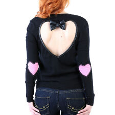 Women's Lucky 13 Locket of Love Cardigan Retro Rockabilly Pinup Heart Cut Out