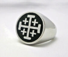 Jerusalem Cross Ring Crusaders Cross Five Wounds of Christ Ring