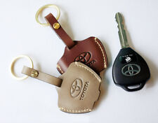 Leather Smart Key Chain Case Cover Fob For TOYOTA / SUBARU BRZ