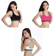 Women Double Sexy Yoga Seamless Racerback Sports Bra Underwear Fitness Vest Type