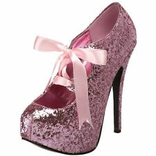 Pink Glitter Pinup Rockabilly Pleaser Bordello Teeze 10G Shoes Pinup Burlesque