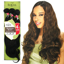 """Shake N Go Equal Synthetic Bundle Wave Hair Russian Body 4PCS 17""""18""""19""""+Closure"""