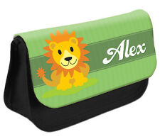PERSONALISED Lion Pencil Case Make up Bag - Kids School Great Gift Idea DS
