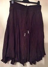 Ex-MONSOON CHOCOLATE BROWN ELASTICATED WAIST SKIRT-SIZE's 12-14-16-18