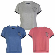 TOKYO LAUNDRY WOMENS JOY CASUAL CREW NECK TURN UP SLEEVED T-SHIRT TOP SIZE 8-16