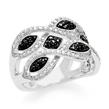 """0.33 Carat Black And White Diamond Fashion Ring in Sizes 5, 6, 7, 8 and 9"""""""