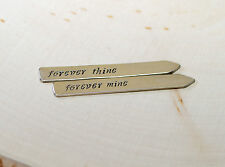 Sterling silver forever thine forever mine collar stays