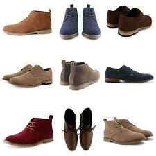 NEW STYLISH MENS CHELSEA BOOTS CASUAL LACE UP BROGUE DESERT PARTY SHOES UK SIZES