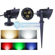 3x2W With CAP LED Landscape Garden Wall Yard Path Flood Spot Light Outdoor IP65