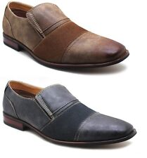 Ferro Aldo Mens Slip On Loafers Oxfords Leather Lined Casual / Dress Shoes