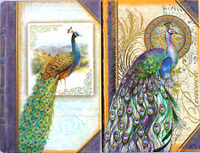 Punch Studio Choice of  Peacock Petite Gold Foil Book Box