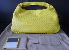 Bottega Veneta Medium Veneta Hobo Yellow $1870 Saks Receipt Purse Handbag