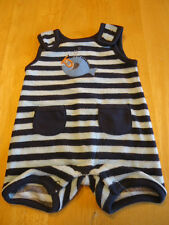 Gymboree SWIM SCHOOL ROMPER 3-6 6-12 months 5-9lb Newborn Striped Terry Cloth