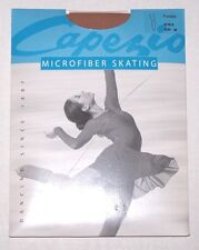 NIP New Capezio Microfiber Skating Tights Stockings Footed or Over Boot Girl
