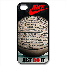 Nike Just Do it Basket Quotes-Black iPhone 4/4S ,5/5S, 5C Samsung  S3,S4 Case