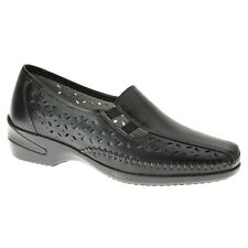 Women's Spring Step AMARI Black Leather Slip On Loafer