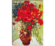 Van Gogh Vase Daisies and Poppies Canvas Print Painting Reproduction - 10 SIZES!