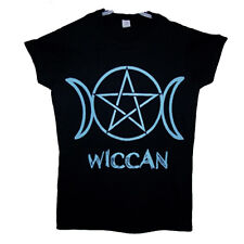 Triple moon wiccan t shirt women junior fit  small size to  extralarge