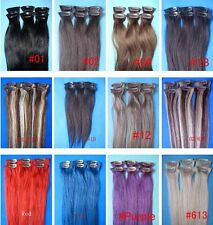 "bid here low price don't make money promise human hair 20"" 6P clip extension ca"