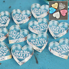 Personalised Wedding Mr & Mrs Love Hearts Favours Table Decoration Confetti Gift