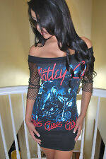 DIY Motley Crue Mini dress Top shirt glam rock metal Concert Nikki  XS-XL