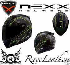 NEW NEXX XR2 PURE CARBON GREEN BLACK MOTORCYCLE MOTORBIKE BIKE CRASH HELMET