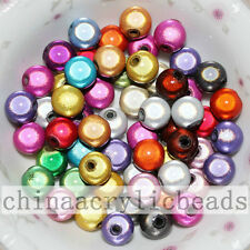 4-20MM Acrylic Miracle Round Spacer Beads Assorted Colors Random Japanese Beads