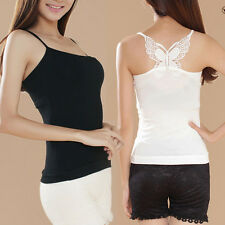 Sexy Women Lace Butterfly camisole Tank Tops Stretch Cotton T-shirt Camisole
