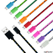 3F 6F 10FT Micro USB Data Sync Charging Braided Cable for Galaxy Android Htc V8C