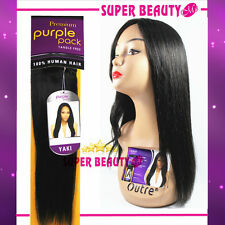 Outre Premium Collection Purple Pack Yaki Weave Human Hair-Authorized Seller
